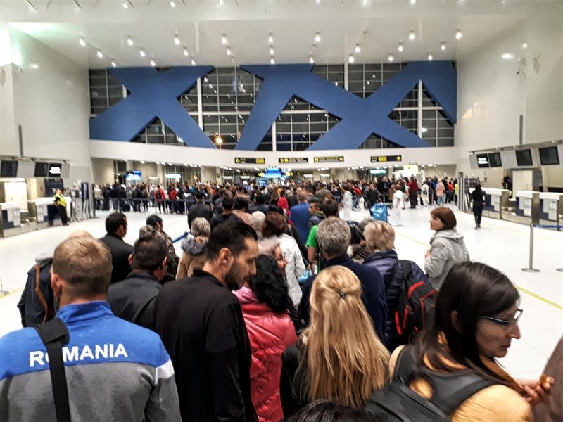 otp airport queue bucharest security