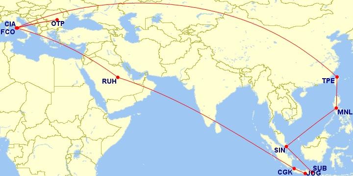 java flight map