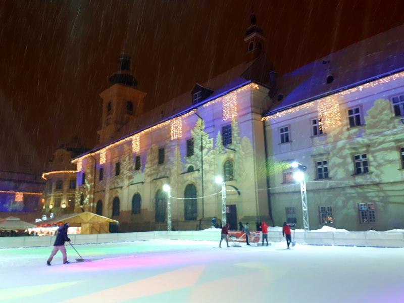 ice rink night sibiu