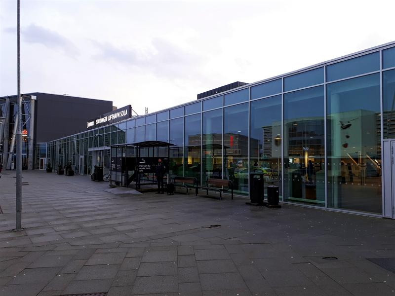 stavanger airport outside view exterior