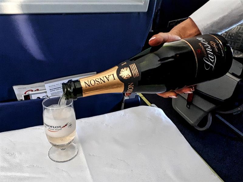 champagne lanson aeroflot business class review irkutsk moscow
