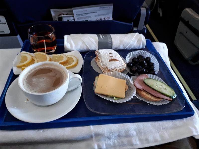 pre-landing snack aeroflot business class review irkutsk moscow