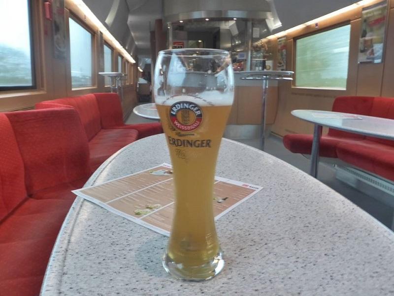 beer restaurant wagon ice train germany