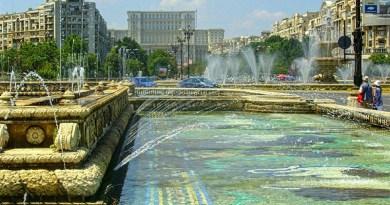 bucharest unirii fountains palace parliament