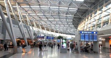 dusseldorf airport terminal gas incident