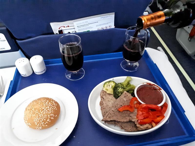 meal dinner aeroflot irkutsk moscow business class review