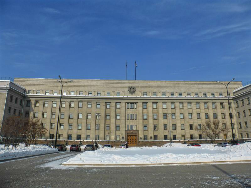 soviet building government irkutsk