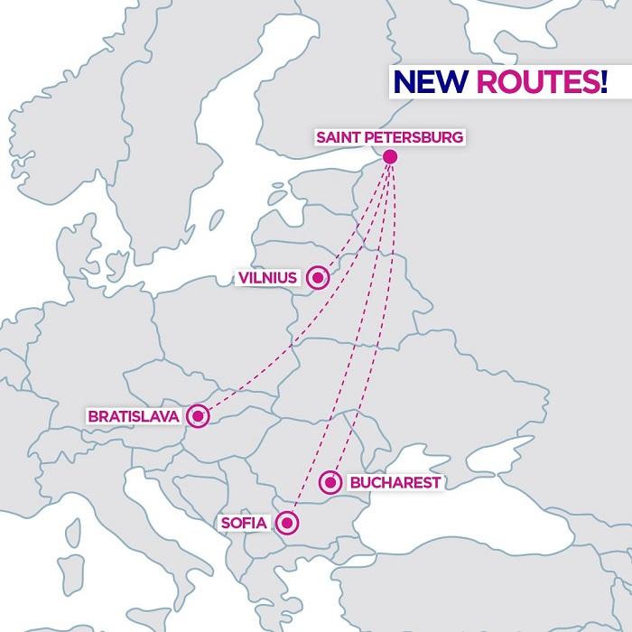 wizz air st petersburg russia new flights service