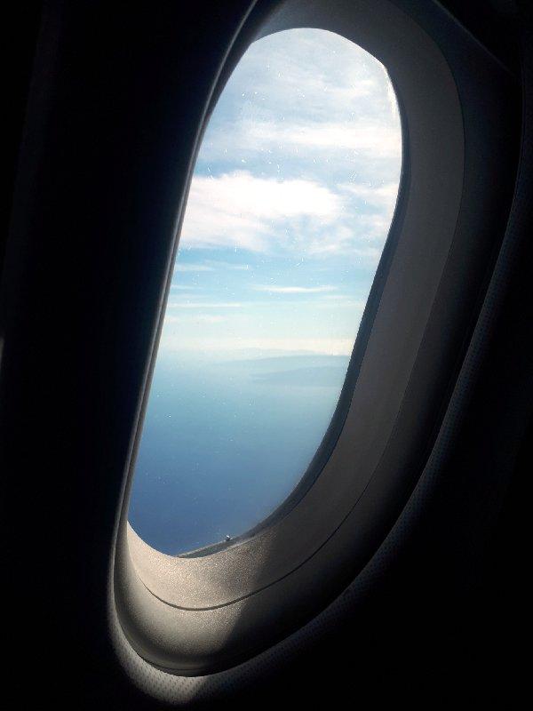 aegean plane window