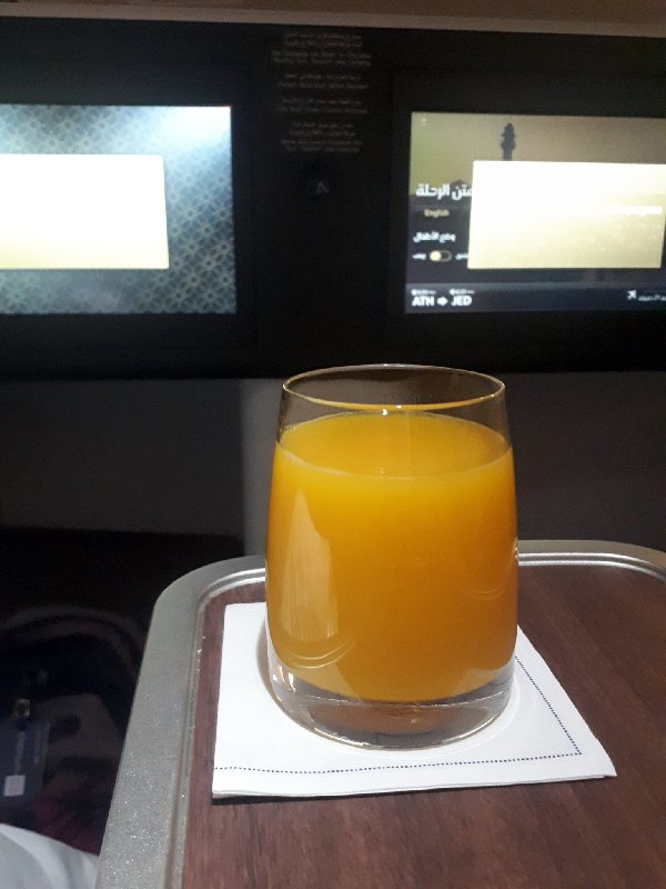 saudia pre landing drink