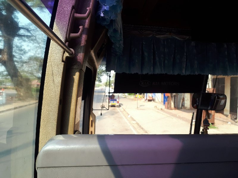 laos bus inside seat ticket