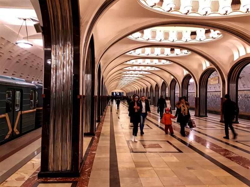 moscow metro station mayakovskaya