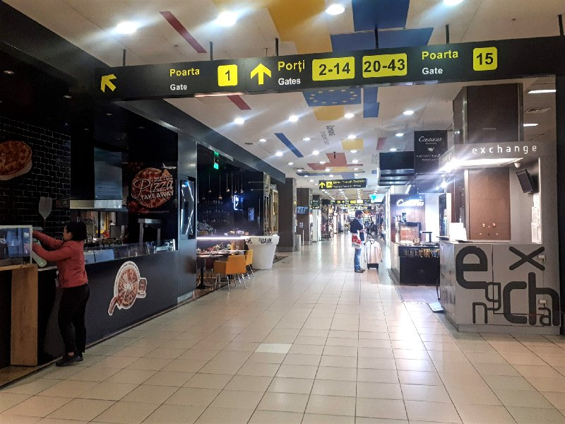 bucharest airport otp otopeni shops cafe