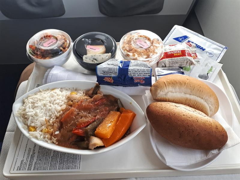 tarom business class meal food