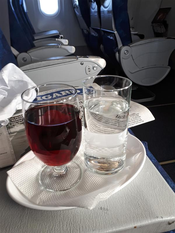 red wine tarom business class review