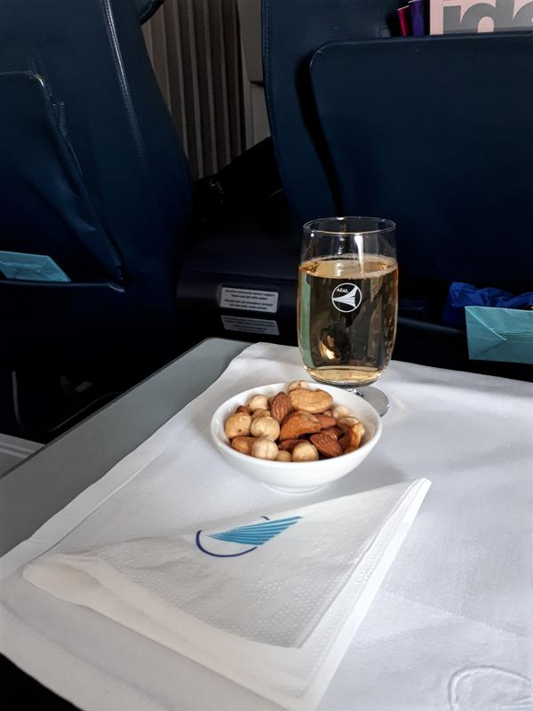 azerbaijan airlines azal business class champagne