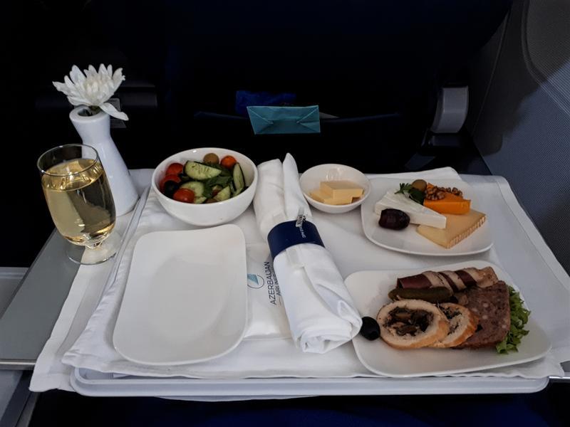 starter azerbaijan airlines business class meal