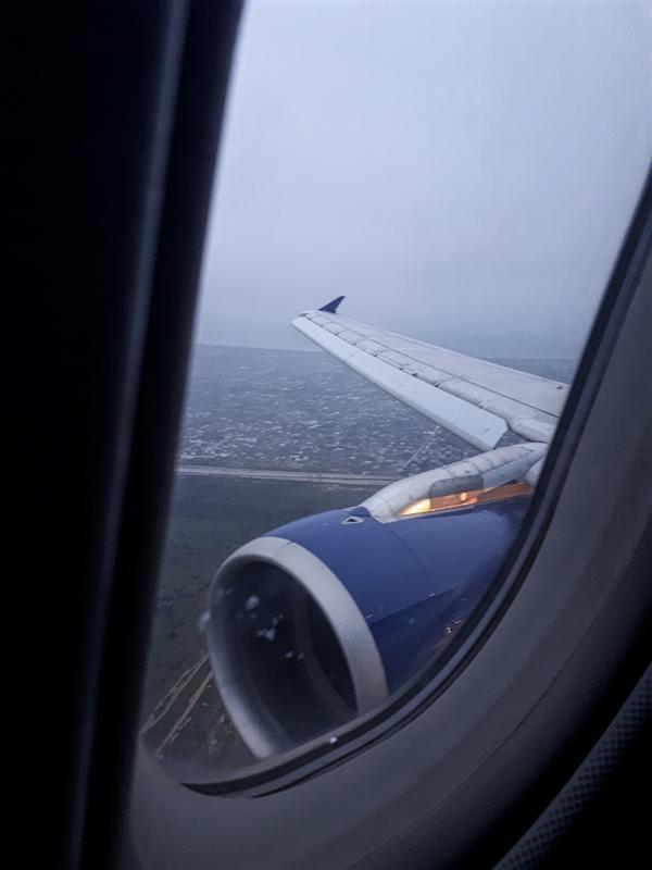 baku airport descent arrival