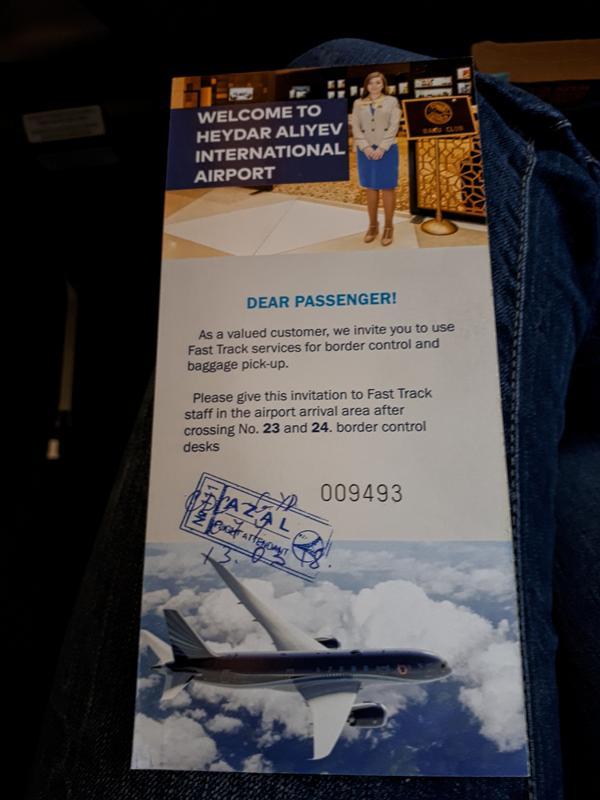 voucher fast-track passport control baku