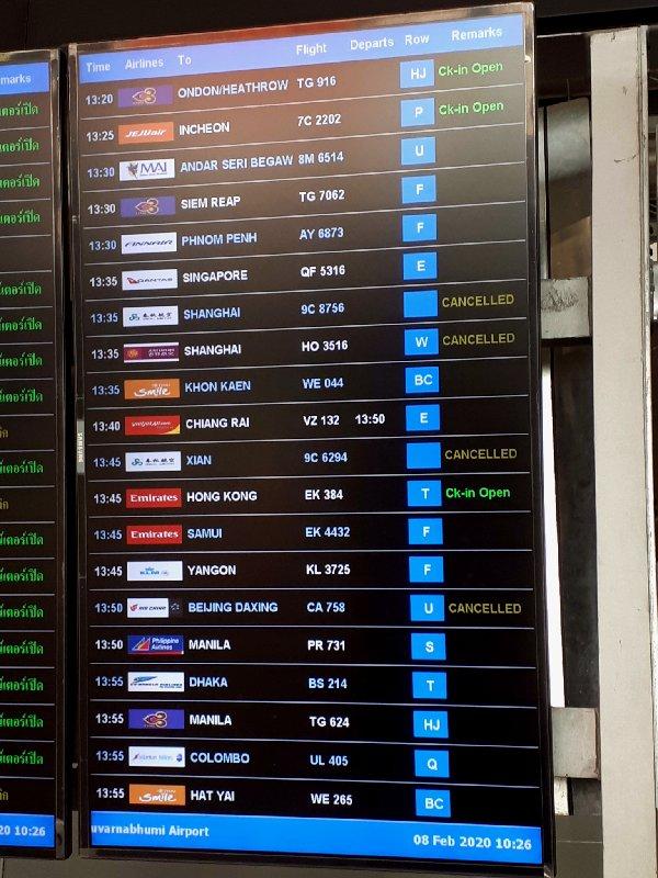 bangkok departures