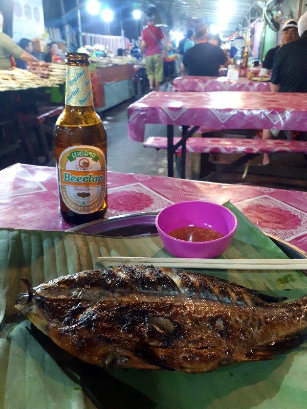 night market fish luang prabang
