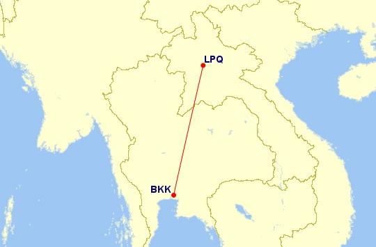 lpq bkk flight route