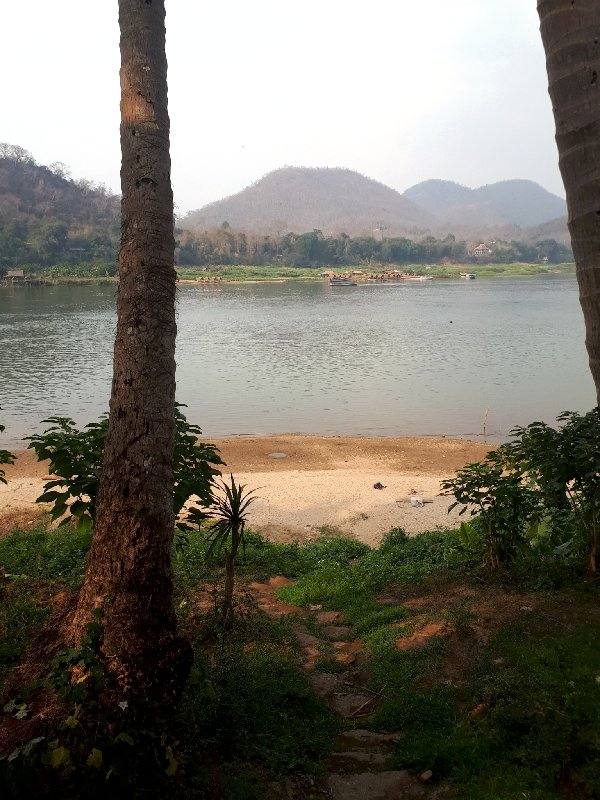 riverside beach mekong