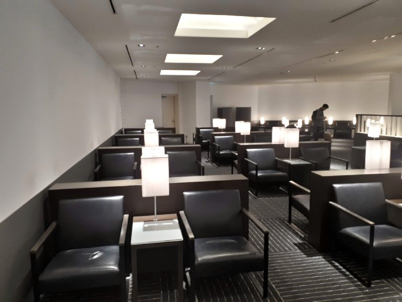 ana business lounge narita review