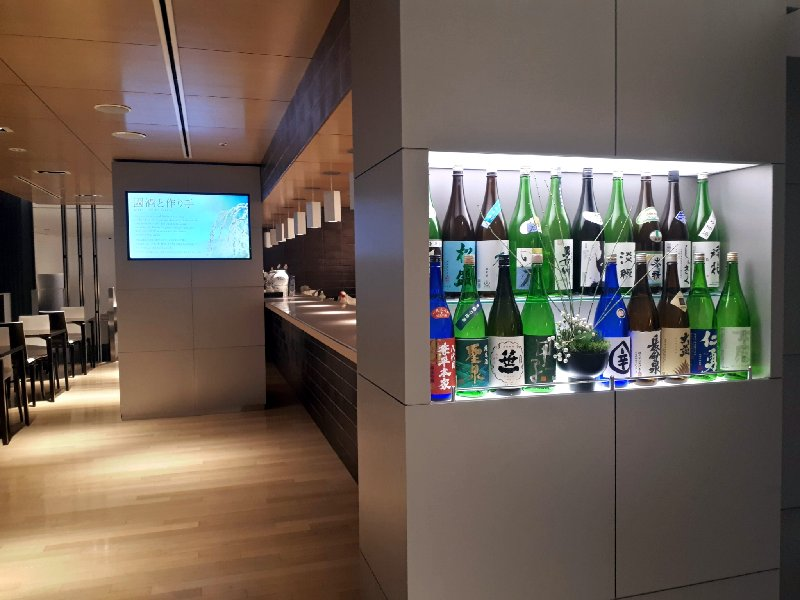ana business lounge review narita booze drinks bar
