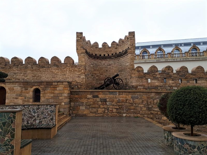 baku city walls