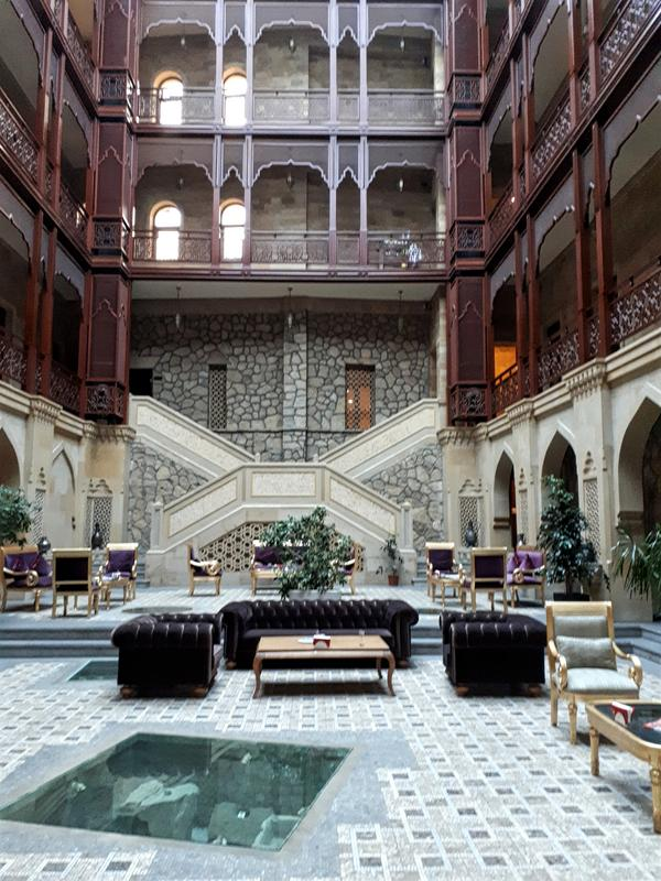 shah palace hotel review atrium