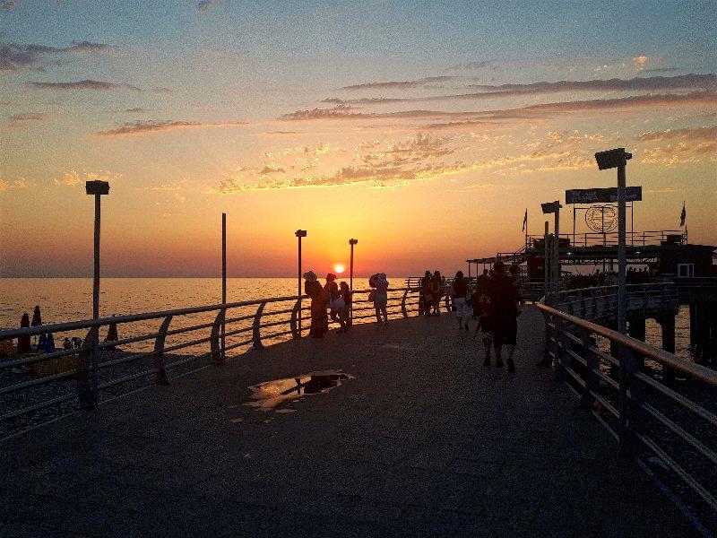 batumi pier georgia sunset
