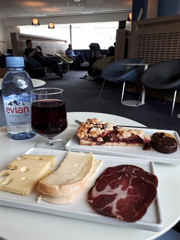 air france lounge food