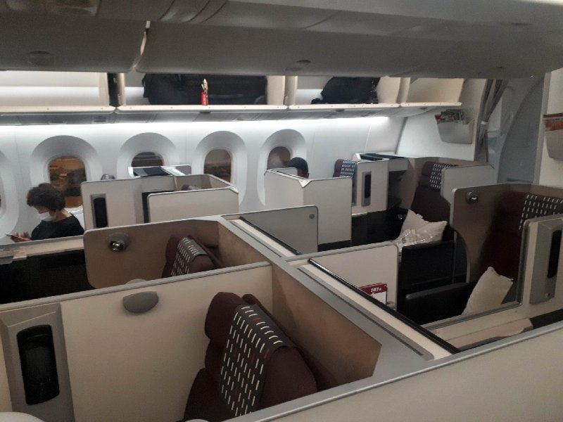 jal sky suite apex japan airlines boeing 787 business class review