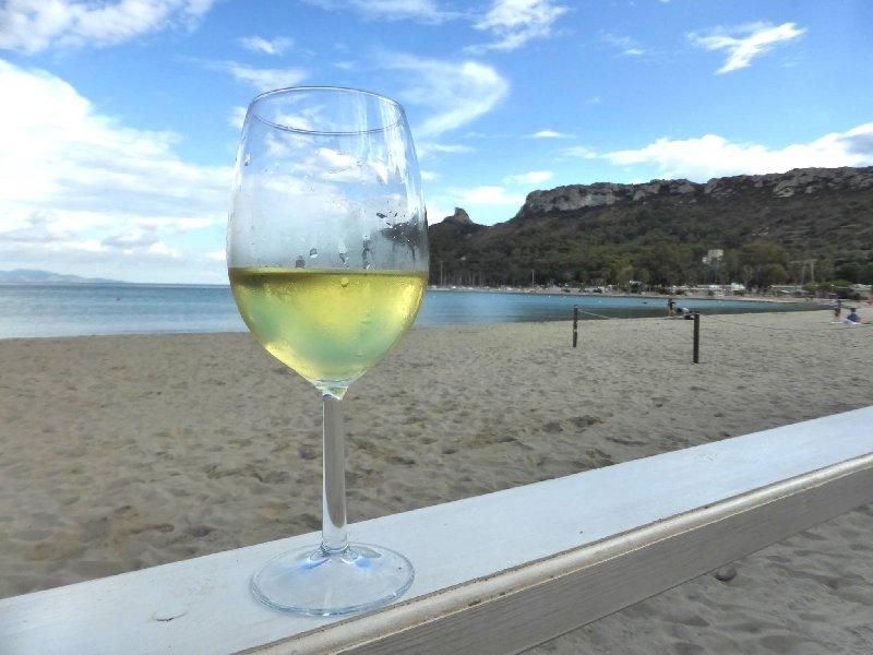 white wine beach bar poetto cagliari sardinia countries open tourism summer