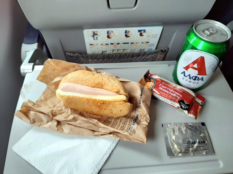 meal service aegean airlines economy class review