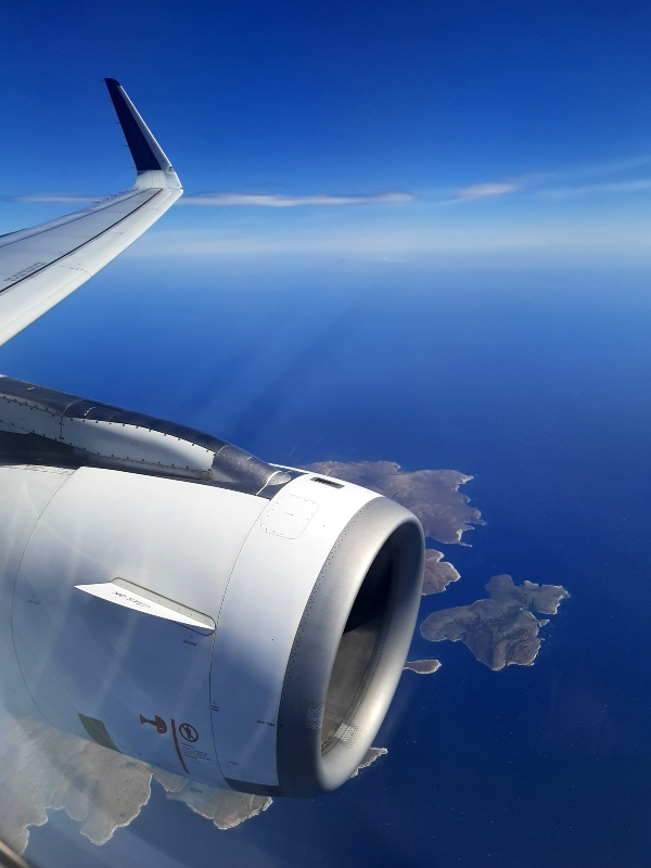 aegean airlines economy class review plane view greece