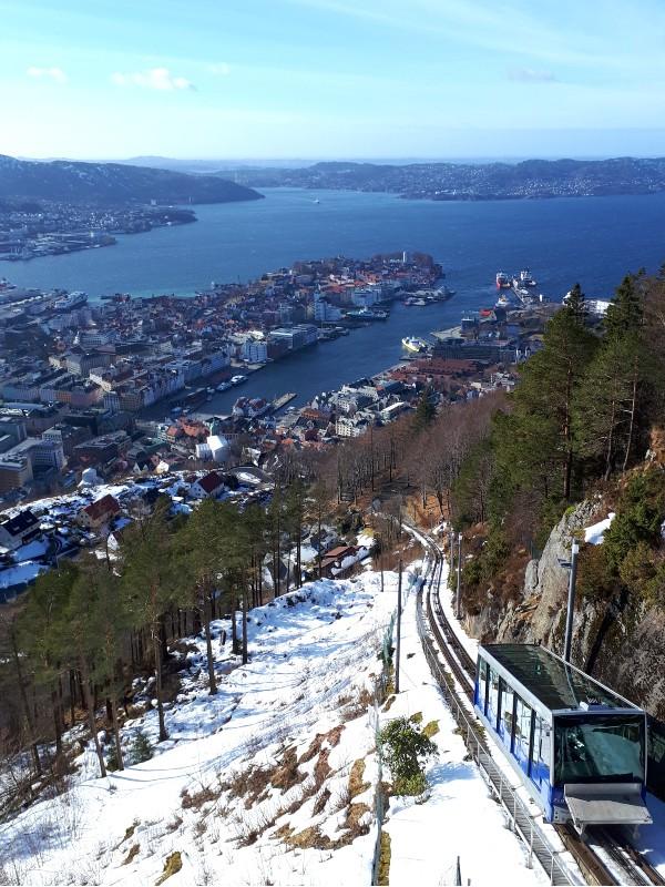fløibanen bergen norway fløyen trip report funicular