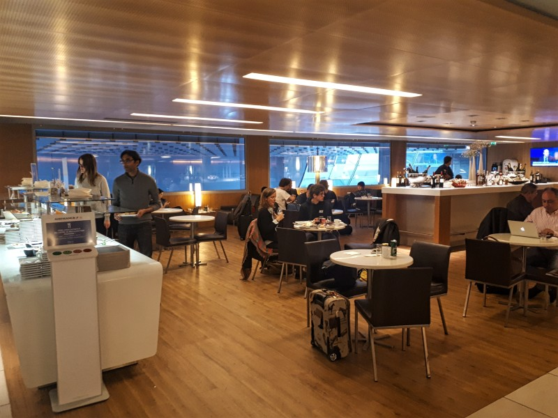 air france lounge buffet cdg hall k
