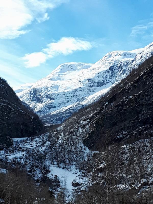 flamsbana flam railway train mountains view