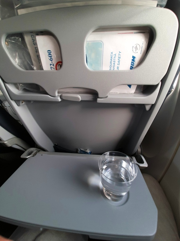 tarom domestic flight corona beverage