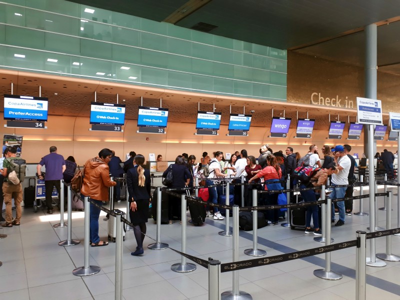 copa airlines check-in desks bogota airport