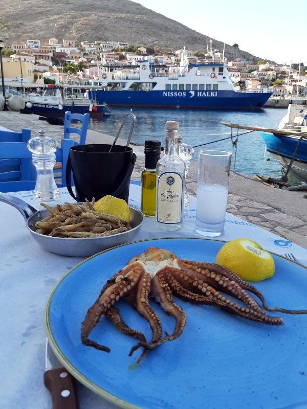 seafood greece chalki