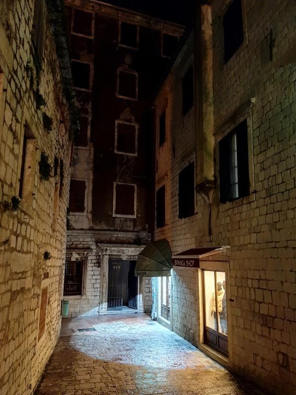 old town kotor night