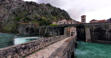 kotor old town north river gate