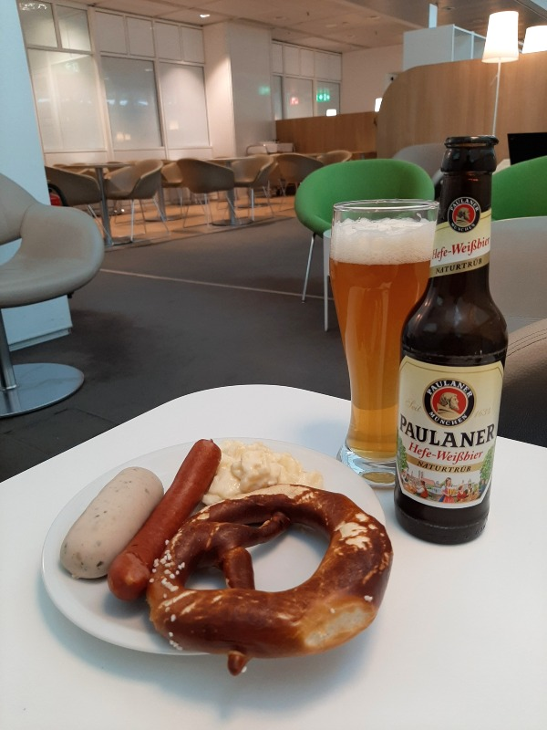 german food air france klm lounge munich