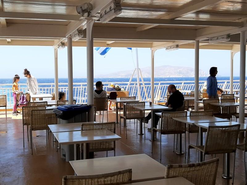 outdoor deck blue star ferries