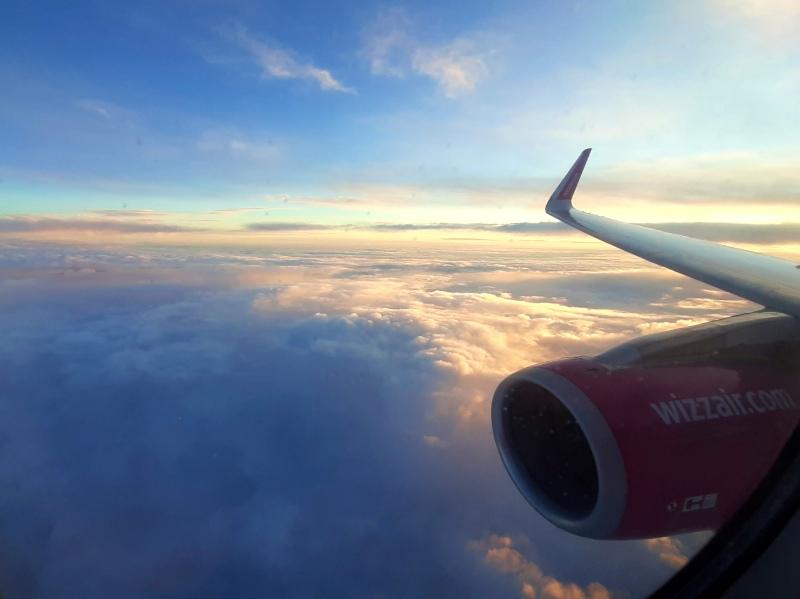 sunrise plane window