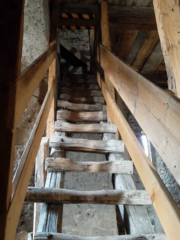 bell tower climb ladder