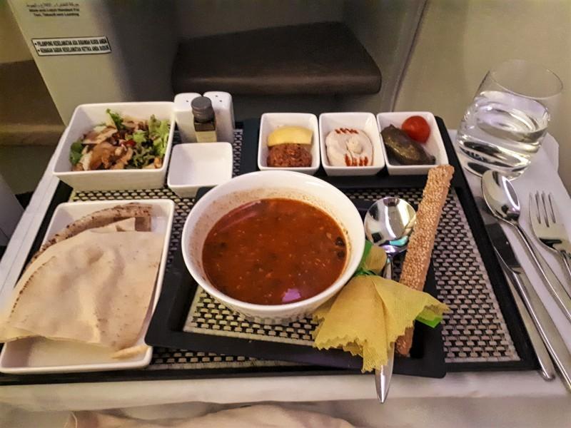 saudia business class food boeing 777